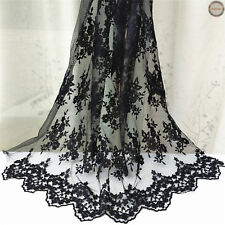 Vintage Floral Lace Embroidery Fabric Bridal Wedding Dress Sewing Decor Craft