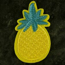 Pineapple Funky Embroidered patch Sew or Iron on cloth badge P7