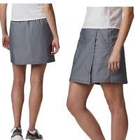 Columbia Womens Longer Days Skort Omni-shade UPF 50 Size 10 Nwt City Grey Heathe