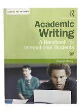 Academic Writing: A Handbook for International Students Stephen Bailey Paperback