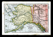 1900 Mathews-Northrup Map - Alaska - Klondike Gold Fields Yukon Dawson Canada
