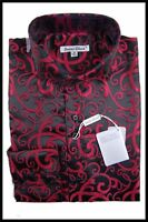 Men's New Daniel Ellissa Fashion Jacquard Paisley Spread Collar Dress Shirt