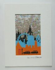 ORIGINAL PAPER CRAFT MIXED MEDIA PICTURE OF LONDON No 2 BY ANN MARIE WHITTON