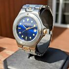 WITTNAUER JV8242 Wristwatch Stunning Blue Dial Stainless Steel Date Indicator