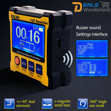 Dual Axis 0.02° Resolution Digital Angle Protractor Inclinometer DXL360 Tool