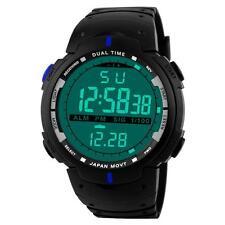 Fashion Men LED Digital Date Military Rubber Quartz Sport Watch Alarm Waterproof