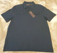 NEW NWT Men's Perry Ellis Blue Short Sleeve Extra Large XL Polo Shirt