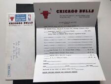 1972-73 Chicago Bulls Original Team Envelope With Letterhead - Very Rare!