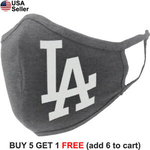 Los Angeles Dodgers LA Cloth Face Mask Curved Reusable Washable Cotton Adult LAD