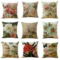"18""Cushion Cover Plant Cotton Linen Home Decorative Pillow Cover Pillow Case"