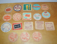 Vintage BEER COASTER Lot BREWERIANA Advertising 1950's Schlitz Bavarian Schaefer