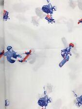 Pottery Barn Kids Sports Flat Sheet Bedding Skate Boarder Full Size