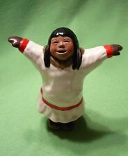 Rare ARTIST'S EDITION signed C. ALAN JOHNSON Alaskan pottery figurine. Rebecca