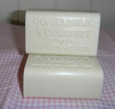 ALL NATURAL GOATS MILK AND COCONUT SOAP 5 X200 GRMS .