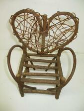 Miniature Doll/Toy Bent Twig Outdoor Furniture Handmade Armchair Heart Back