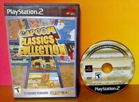 Capcom Classics Collection - PlayStation 2 PS2  Rare Game Tested 22 Arcade Hits