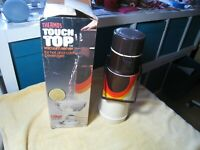 THERMOS brand vintage TOUCH TOP vacuum server fine in box 1978 1L modernist look