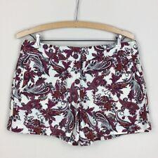 Ann Taylor LOFT Linen Blend Paisley Print Shorts Size 4