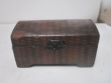 VINTAGE DECOUPAGE WOOD TREASURE CHEST TRINKET BOX