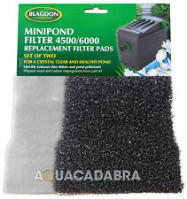 Bladgon Mini Filtro Estanque 4500/6000 Filtro De Repuesto almohadillas 2 Pack polymer/carbon