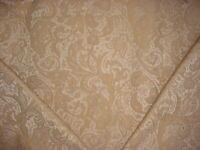 1-3/8Y ROBERT ALLEN MEDIUM GOLD TAUPE FLORAL SCROLL DAMASK UPHOLSTERY FABRIC