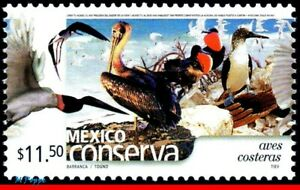 2271 MEXICO 2002 CONSERVATION, COASTAL, BIRDS, (11.50P), MNH