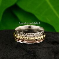 Solid 925 Sterling Silver Spinner Ring Meditation Ring Statement Ring Size se127