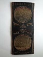 "Antique Carved Wooden Letterpress Print Block Plate ""Save Now"" 39 1/2"" x 17"""