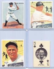 (25) LOU GEHRIG 1927/1933-34 ROOKIE CARD REPRINTS MIXED LOT! NEW YORK YANKEES!