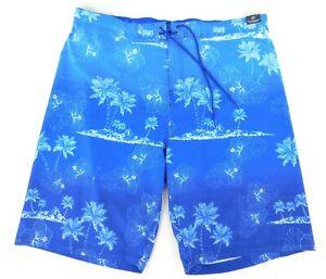 "NWT ROUNDTREE & YORKE Men's BIG MAN Size 4XB Blue Swim Trunks Board Shorts 9"""