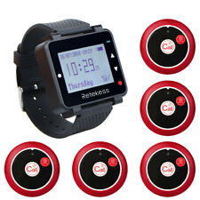 Restaurant Waiter Calling System Watch Receiver LCD Screen 999CH+5*Pager Two Key