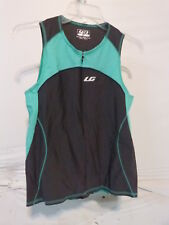 Louis Garneau Women's Comp Sleeveless Triathlon Top Xl Grey/Green
