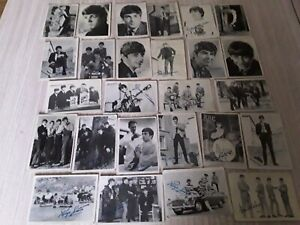 1964 job lot  26 AB&C The Beatles Black and White signature cards