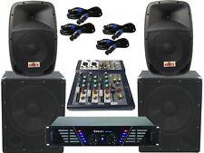 The PA-SET21 Amplifier Mixer Pa System 2 Way 25 cm Boxes USB Complete 2880Watt