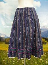Trachtenrock blau Baumwolle handgemacht Vintage sagenhafte Trachten Rock Gr.50