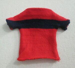 Vintage Barbie: RICKY #1504 Little Leaguer ~ Red w/ Blue Stripe Shirt