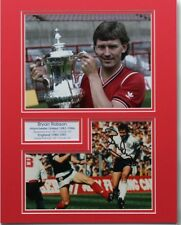 BRYAN ROBSON Manchester United & England HAND SIGNED Autograph Photo Mount + COA