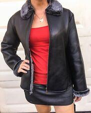 Ego Genuine Italian Leather (Lambskin)  Very warm Jacket Womens Size 2XL new