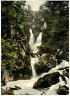 Lake District. Ambleside. Stock Ghyll Force.  PZ vintage photochromie, England