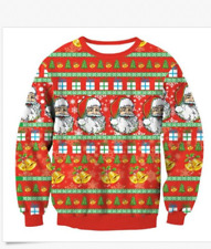 LOT OF UGLY CHRISTMAS SWEATER FAMILY