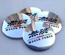 "4x 56mm 2.2"" Car Wheel Center Hub Cap Emblem Badge Decal For MUGEN Glossy NEW"