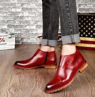 Men Casual Ankle Boots Dress Slip On British Shoes Formal Business Vintage Hot T