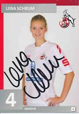 Lena Schrum  FC Köln  Frauen Fußball Autogrammkarte signiert 379709