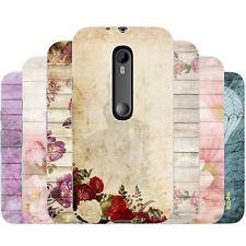 Dessana Romantic Flowers Pattern Silicone Protective Cover Phone for Motorola