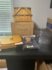 Longaberger 1998 Collectors Club Harbor Basket Combo w/ Maple Lid Nib