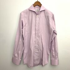 ETON Men's Size 40 15.75 Slim Fit Formal Pink Dress Shirt Striped Work