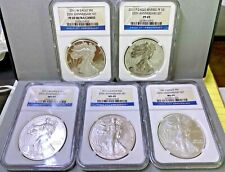 2011 Silver American Eagle 25th Anniversary 5 Coin Set NGC MS69, PF69, ULTRA  $1