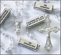 Pray the Mysteries Rosary Clear Prayer Beads with Madonna and Child Centerpiece