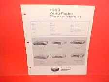 1969 TRIUMPH SAAB SIMCA SUNBEAM VOLVO KAISER JEEP BENDIX AM RADIO SERVICE MANUAL