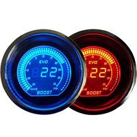 "2"" 52mm Blue Red Turbo Boost Vacuum Car Digital LED Gauge Meter Tint Len Psi"